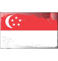 singapore national flag vector image