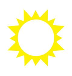 sunny icon vector image vector image