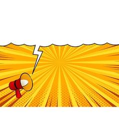 Comic book loudspeaker announcement speech bubble vector image