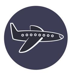 flat cartoon plane icon airplane symbol vector image vector image