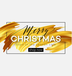 merry christmas lettering on a background of a vector image vector image