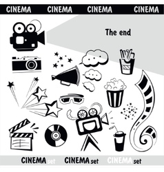 Cinema sign set vector image