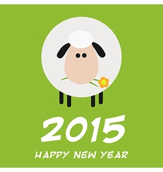 2015 New Year Background with a Sheep Design vector