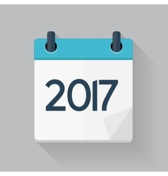 2017 New Year Calendar Flat Daily Icon Template vector image