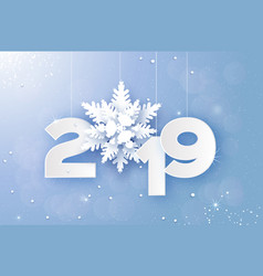 2019 merry christmas and happy new year greetings vector