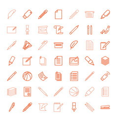 49 pen icons vector image