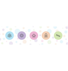 5 environment icons vector