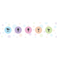 5 liquor icons vector