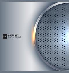 abstract elegant circle metallic round silver vector image