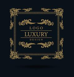 amazing luxury logo designs vector image