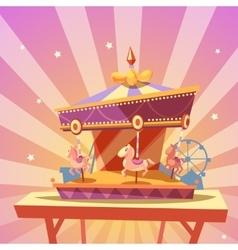 Amusement park cartoon vector