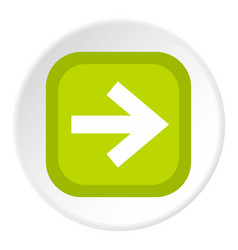 Arrow in square icon circle vector