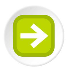 arrow in square icon circle vector image