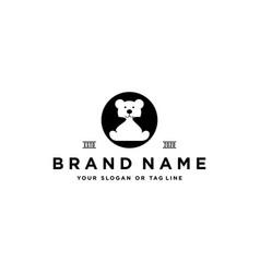 Baby bear logo design vector
