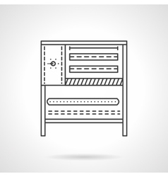 Bakery stove flat line icon vector image
