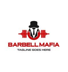 barbell mafia logo vector image