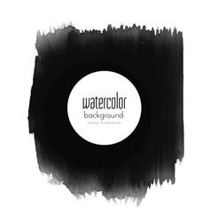 black grunge paint stroke background vector image
