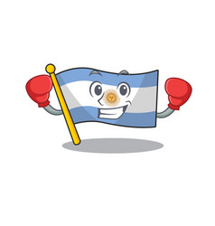 Boxing flag argentina cartoon shaped mascot vector