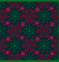 bright christmas seamless pattern with different vector image