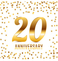 celebrating 20 anniversary emblem template design vector image