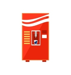Cold Drinks Vending Machine Design vector