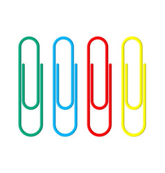 colored paper clips clerical clothespin vector image