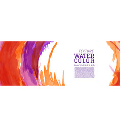 colorful surface splash watercolor banner vector image