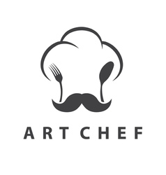 Concept of chefs hat with fork and spoon vector image