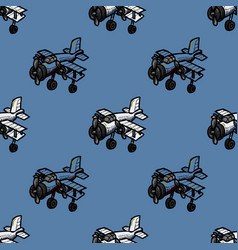 cool airplane seamless pattern vector image