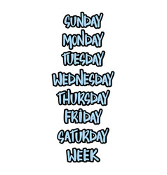 days of the week vector image