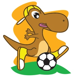 Dinosaur Football vector image