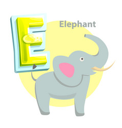 elephant children alphabet vector image