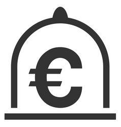 Euro standard flat icon vector