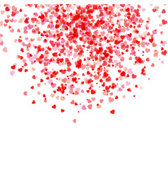 Falling hearts background vector