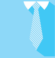 Fathers day background tie and blue shirt vector