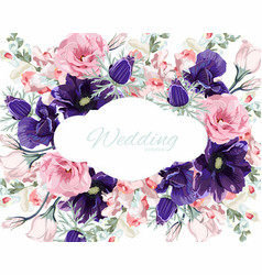 floral frame with summer spring flowers vector image