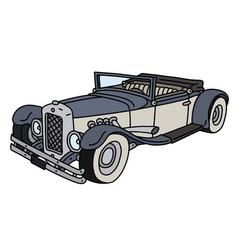 Funny vintage cabriolet vector