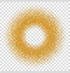 gold circle glitter frame golden confetti dots vector image