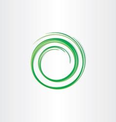 Green spiral symbol vector