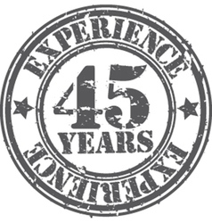 Grunge 45 years of experience rubber stamp vector