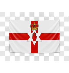 hanging flag northern ireland northern ireland vector image
