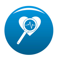 heart icon blue vector image