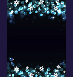 holiday silver-blue background vector image