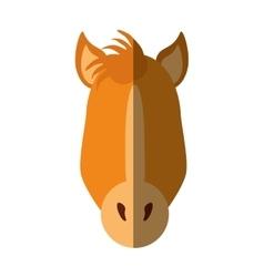 Horse animal farm isolated icon vector