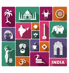 Icons of india vector
