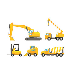 Industrial kinds of transport using on road vector
