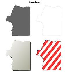 Josephine map icon set vector