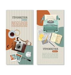Journalist Typewriter Vertical Banners vector
