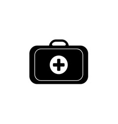 medical icon case vector image