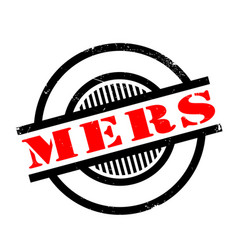 Mers middle east respiratory syndrome rubber stamp vector